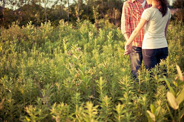 [フリー写真] 草むらで手をつなぐカップルでアハ体験 -  GAHAG | 著作権フリー写真・イラスト素材集 (12321)