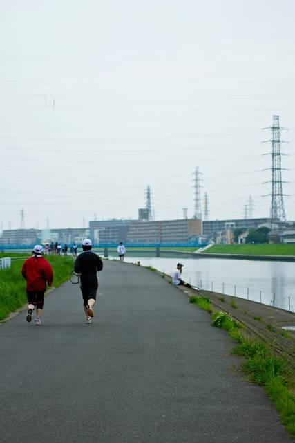 河川敷のランニングコース|フリー写真素材・無料ダウンロード-ぱくたそ (12822)