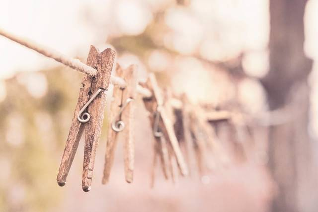 Free stock photo of clothes line, clothes-pegs, clothespins (13204)