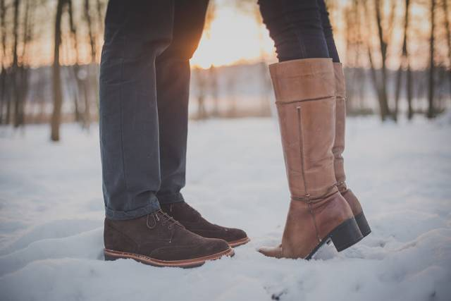 Free stock photo of couple, shoes, snow (13572)