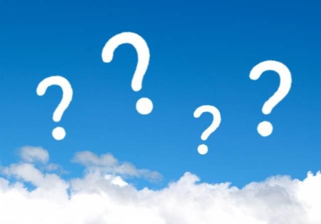 青空と雲 はてな1|写真素材なら「写真AC」無料(フリー)ダウンロードOK (14053)