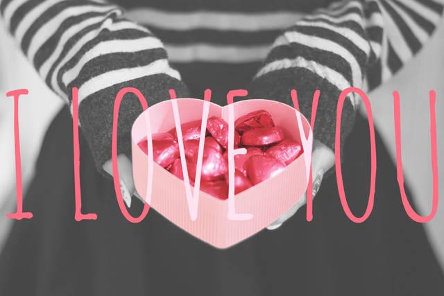 写真スタンプ:『I LOVE YOU』の画像|おしゃれなフリー写真素材:GIRLY DROP (14470)