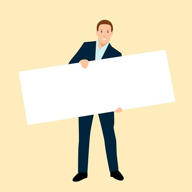 Free illustration: Business, Man, Holding, Blank - Free Image on Pixabay - 2992620 (1947)