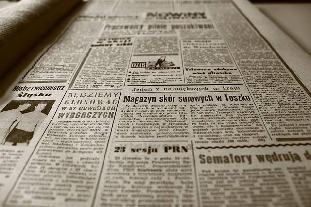 新聞の紙面をイメージしたり…