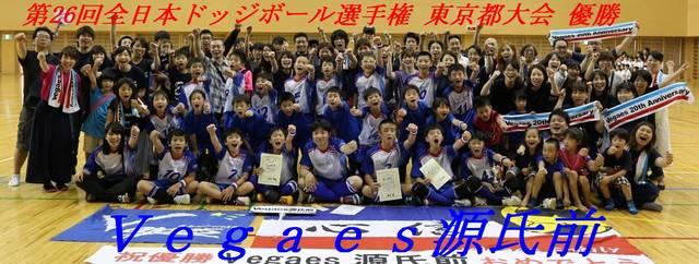 第26回全日本ドッジボール選手権 東京都大会優勝の様子