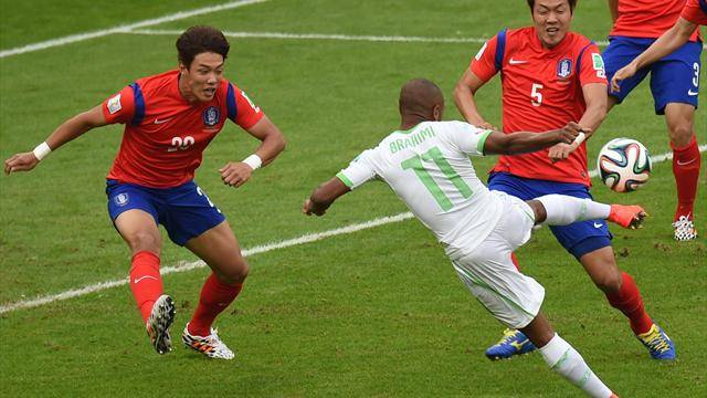 韓国守備陣崩壊!アルジェリアが韓国相手に4発快勝!(海外の反応) (2744)