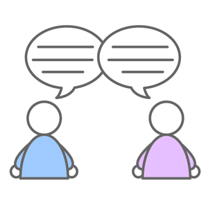 つぶやきコミュニケーション - 無料アイコン素材 (4018)