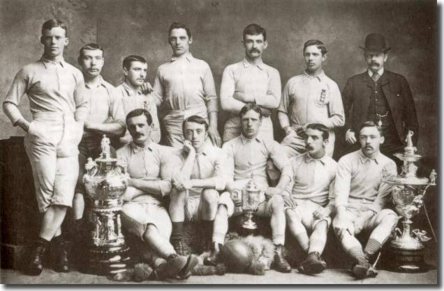 1883-84シーズンにFAカップを獲得したブラックバ...