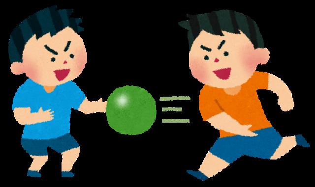 ドッジボールで遊ぶ子供たちのイラスト | かわいいフリー素材集 いらすとや (16457)