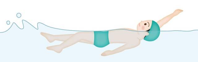水泳・背泳ぎのイラスト素材 | イラスト無料・かわいいテンプレート (59560)