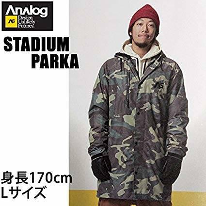 Amazon | ANALOG(アナログ) アナログ 16-17 スノーボードウェア ジャケット STADIUM PARKA-JK SURPLUS CAMO ANALOG ウエア スノーボードウェア・スノボー M | Analog(アナログ) | ジャケット (69197)
