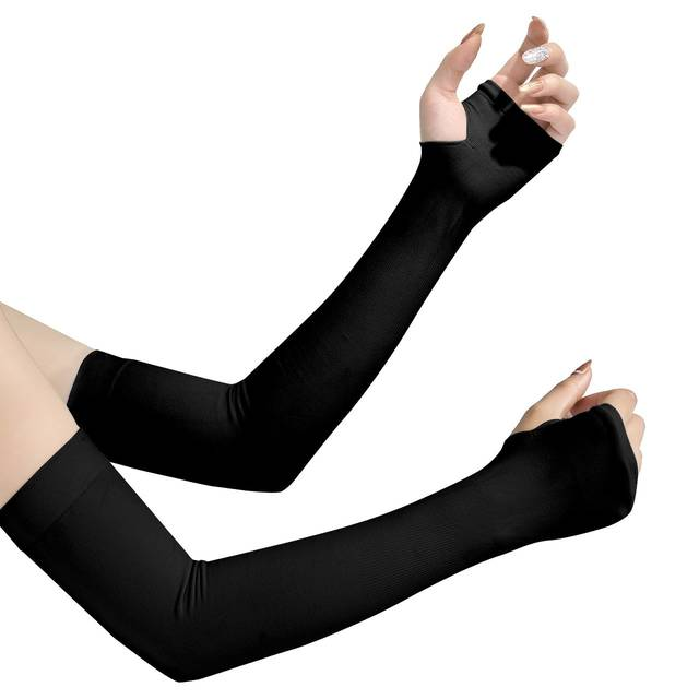 Amazon | アームカバー UVカット99% UPF50+ 腕カーバ 冷感カーバ 両腕用 吸汗速乾 紫外線対策 冷房対策 ブラック | アームカバー 通販 (72209)