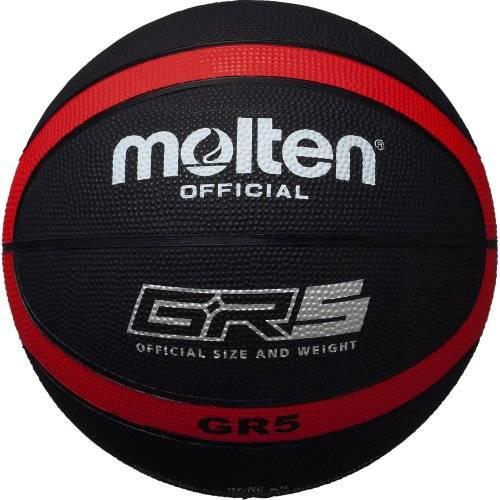 Amazon | molten(モルテン) バスケットボール GR5 BGR5-KR ブラック×レッド 5号 | モルテン(molten) | ボール (83112)