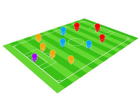 サッカーのフォーメーション (99210)