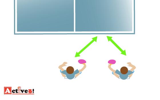 卓球ダブルスの動き方(2)左右ペア