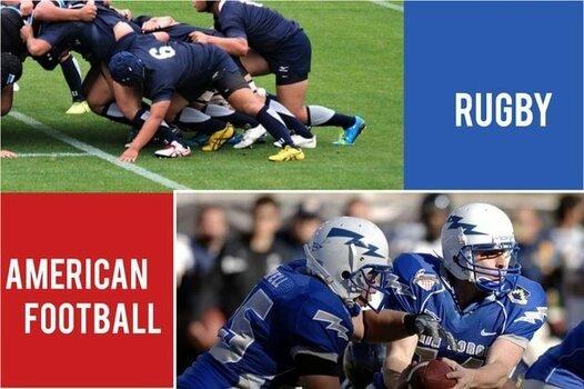 アメフトとラグビーの基本ルールの違い
