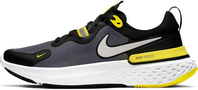 Amazon | [ナイキ] ランニングシューズ リアクト マイラー CW1777-009 React Miler ブラック メンズ 運動靴 くつ ジョギング 黒 BLACK FA20 Black/MmetallicSilver | NIKE(ナイキ) | ランニング (178032)