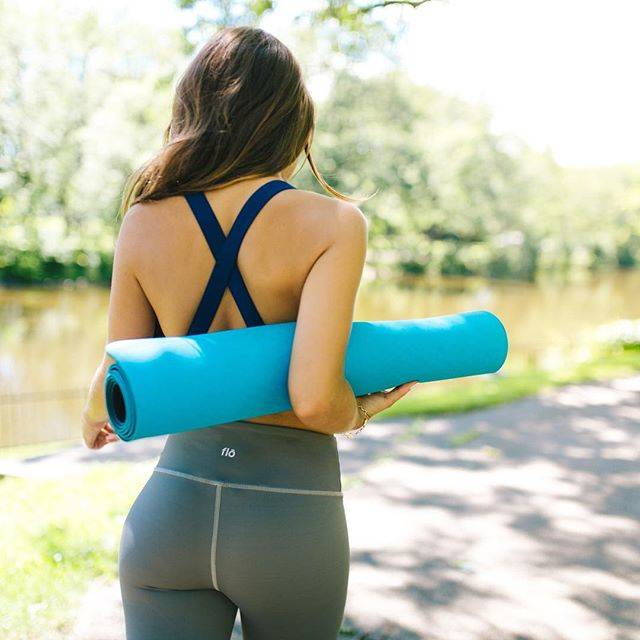"""Yoga on Instagram: """"⠀ Never underestimate a woman with a yoga mat. ⠀ .⠀ .⠀ These @flo leggings will quickly become your favorite pair. #findyourflo #yoga…"""" (30231)"""