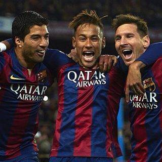 "Mbappe on Instagram: ""Who elses mises this trio?? #messi #suarez #neymar #msn #barcelona #soccertrios #football"" (53727)"