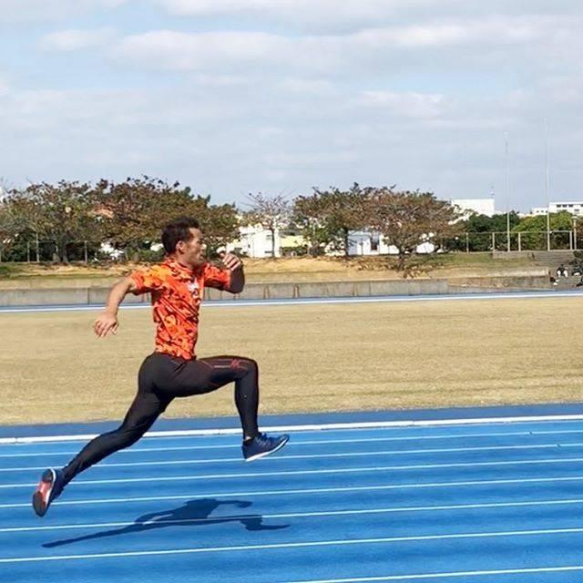 """譜久里武 マスターズ陸上選手 on Instagram: """"疲労でバネなしだけど、バウンディング頑張った。#速く走る #100m #バウンディング#トレーニング #マスターズ陸上#譜久里武"""" (56875)"""