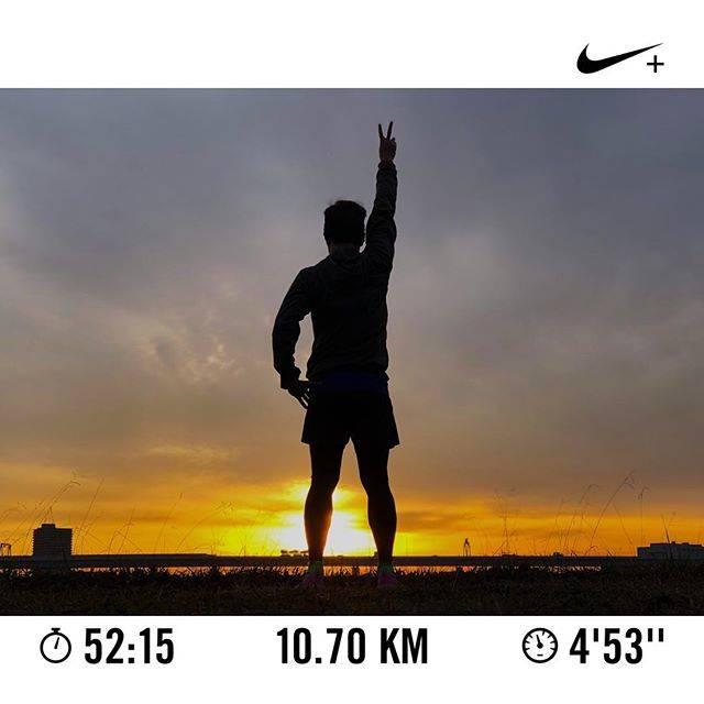 """Hiroki Hanasaki on Instagram: """"超お久しぶりの早朝ラン。気分的にどうしても朝日とともに走りたくて、夜中に何度も起きたw 曇りの予報なのに朝日が見れるなんて!(^^)なんかいいことあるかも〜!さぁ、今年もあとわずか。悔いなきようにいい締めくくりになりますように。 #マイファーストガーミン #ガーミン…"""" (65416)"""