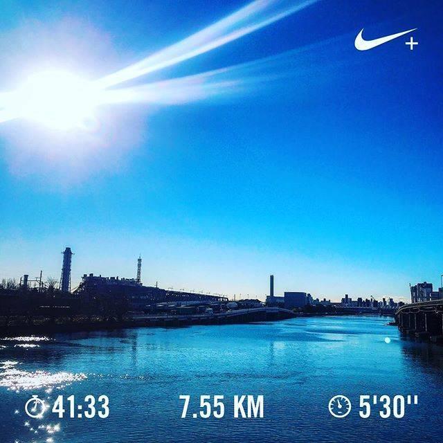 "Manabu Hayakawa on Instagram: ""2018年の走り納めは快晴☆ 終わりよければ全て良し👍 #のびしろしかない  #ランニング #マラソン #トレーニング #ワークアウト #igランナーズ #ig首都圏ランナーズ #ハシリマスタグラム #ランスタグラム #nike #nrc #nikerunning…"" (65657)"