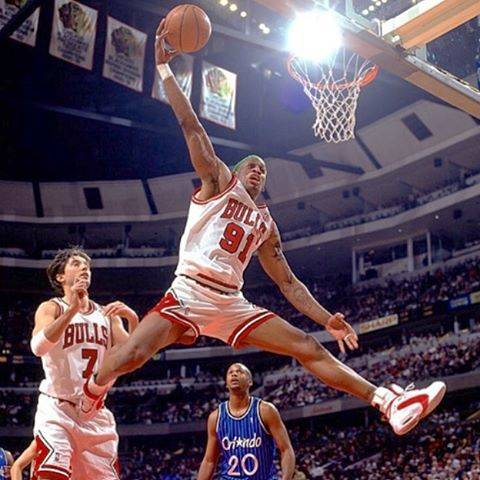 "@dennis_rodman_fanpage on Instagram: ""Looks. good. is. good. #dennisrodman #drod #theworm #michaeljordan #mj #jumpman #windycity #chicago #bulls #dunk #slamdunk #rodman #orlando…"" (84148)"