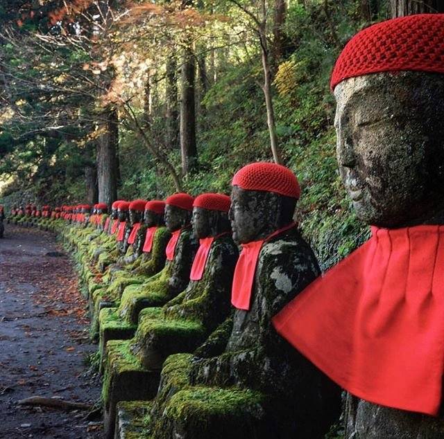 "DISCOVER NIKKO on Instagram: ""In the wooded area of Nikko's Kanmangafuchi abyss stands a row of stone Jizō statues. How many? Nobody knows for sure, because apparently…"" (95980)"