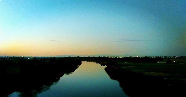 "HaRuKi.K on Instagram: ""#治水橋#荒川#マジックアワー#さいたま市#埼玉 #huaweip9lite"" (97415)"