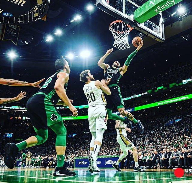 "Bob DeChiara 🥊🇮🇹🏌🏻♂️📸 on Instagram: ""Jason Tatum with a career high 41 points tonight vs the Pelicans. . . #nbaceltics #bostonceltics #tdgarden #bostonma #jasontatum0🍀🏀…"" (120088)"