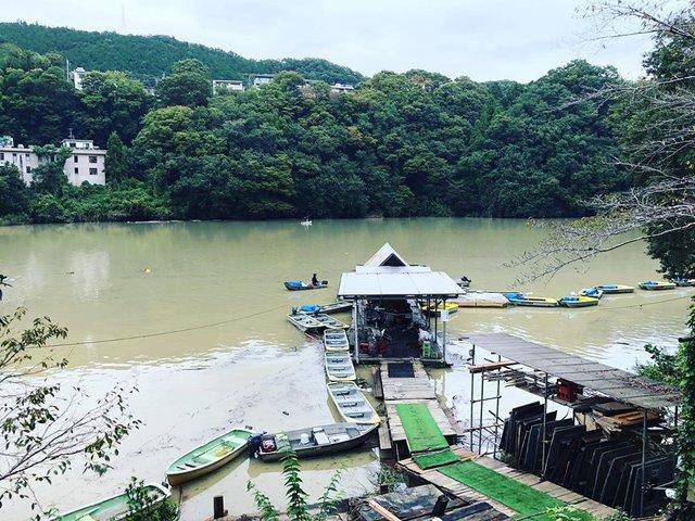 """Nori on Instagram: """"相模湖…難しかった。台風後でコンディションが悪かったという理由で許してください。#ブラックバス#相模湖#日相園#台風後は難しい"""" (120435)"""