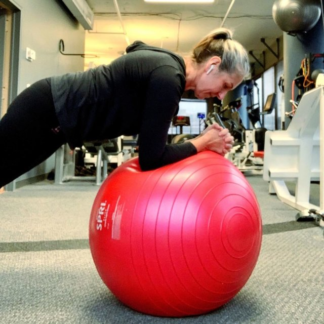 """Heike Yates ☆Fitness Warrior ☆ on Instagram: """"I love the ball. It's so versatile, fun, and challenging. 😁  Improves balance and overall muscle tone. You'll work muscles you never knew…"""" (125565)"""