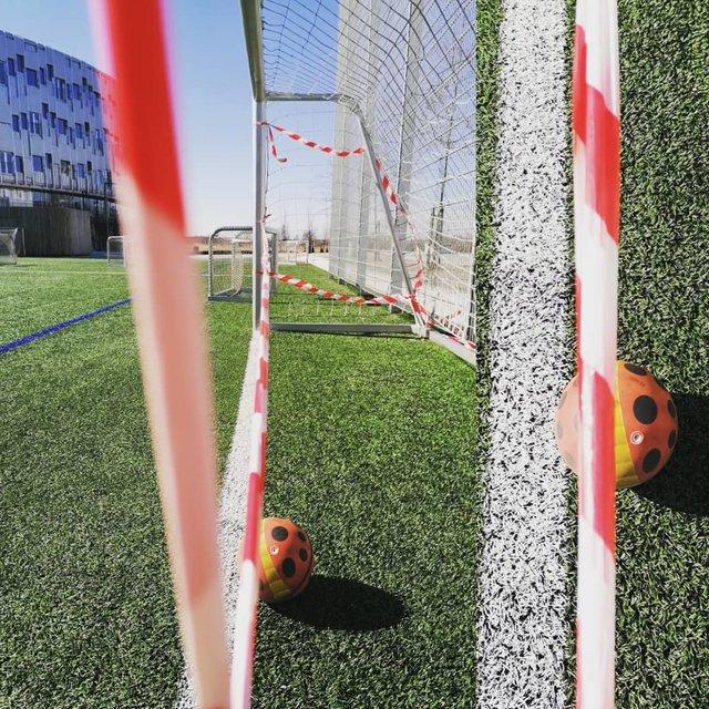 "Panagiotis Tsapekos on Instagram: ""Decision: no goal, no game, closed playgrounds, no play dates ⚽😷🐞🦉🌞#coronaVARius #coronavirus #oldschoolfootball #goallinetechnology"" (130356)"