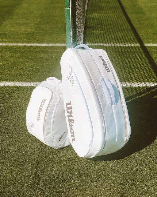 """Wilson Tennis on Instagram: """"Wimbledon might be over, but these white Federer DNA bags are still 🔥🔥🔥"""" (131039)"""