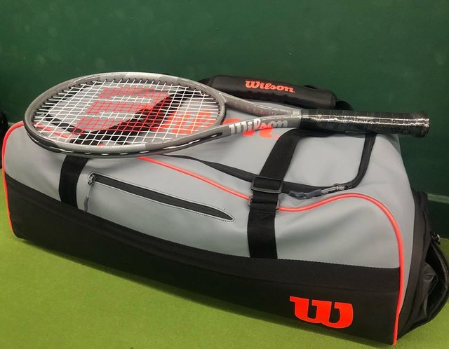 "Shaun Watson's Instagram profile post: ""#wilsontennis #wilsontennisbag #wilsontennisracket #tennis #wilsoncustomize #tennisplayer"" (131049)"