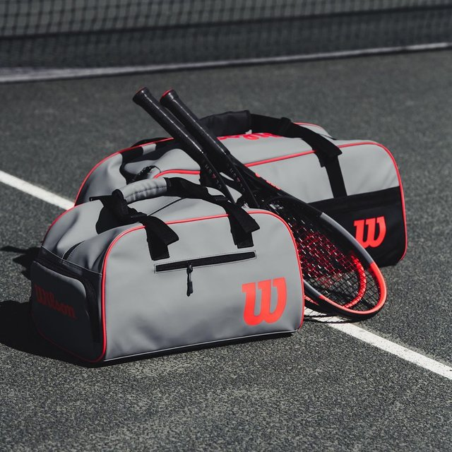 """Wilson Tennis's Instagram photo: """"CL🔺SH large duffel bag, small duffel bag and youth backpack are now available. 🔗 in bio."""" (131051)"""