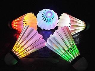 RUIKA LEDバドミントン 美しいLED7色ライトバドミントンシャトル 6個セット (16330)