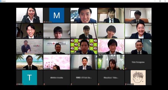 【オンライン入社式レポ】2020年度9名の新入社員を迎え入れました
