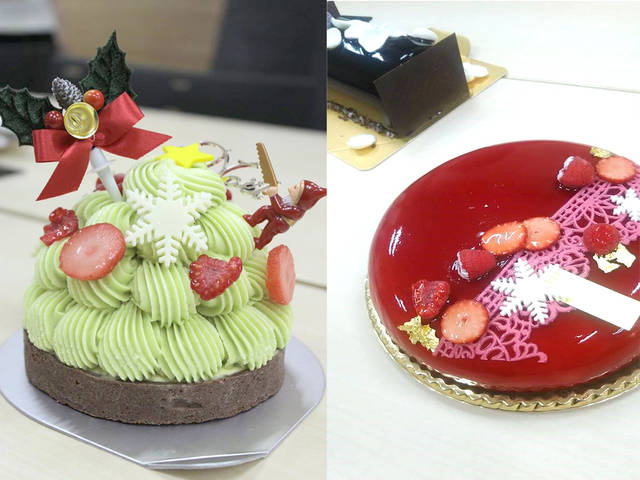2016年クリスマスに食べたケーキの一部