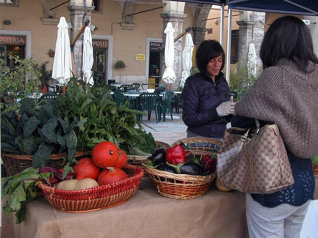 イタリアのオーガニック食材市場