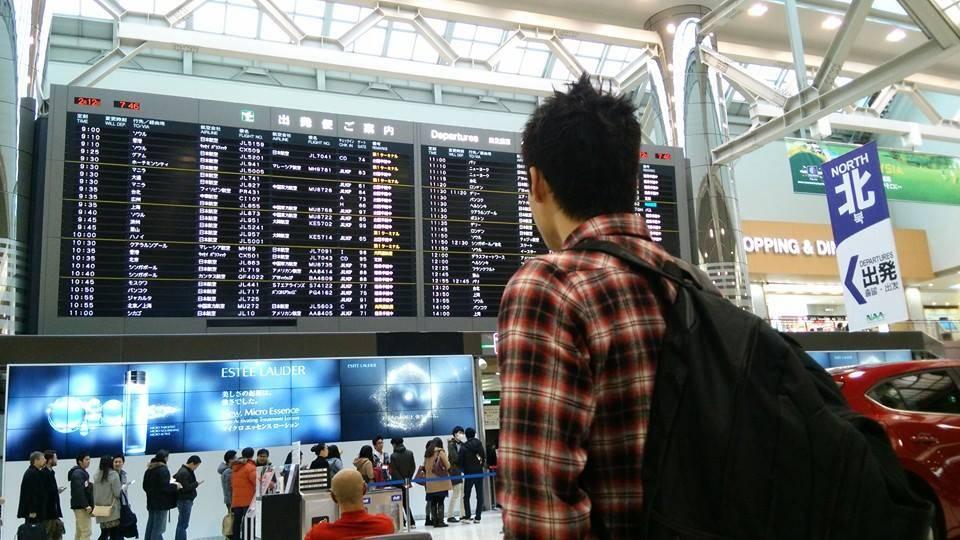 フィリピンに出発する前の筆者。2014年2月撮影