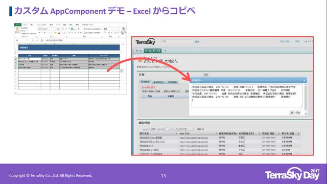 Excelからコピペ