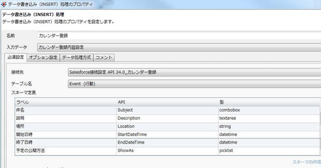 カレンダー登録(データ書き込み(INSERT))