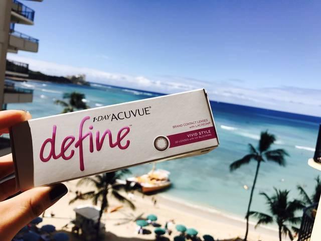 【ディファイン ヴィヴィッドスタイルのカラコンレポ】UVカット&うるおいもあってハワイにぴったり!なナチュラル盛れカラコン