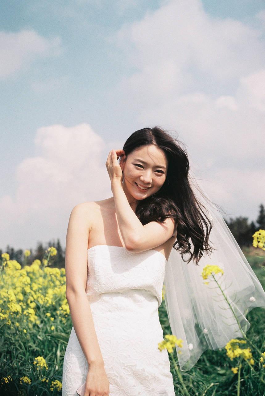 【オルチャン女子に捧ぐ】花嫁メイクとヴィンテージウェディングドレス♡