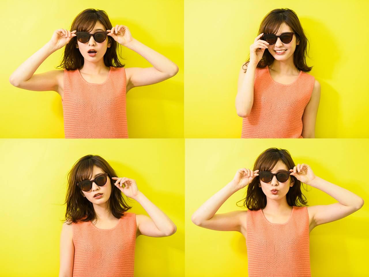 顔型別にアドバイス!紫外線対策に必須のサングラス、似合うのはコレ♡