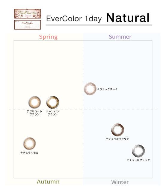 【パーソナルカラー別に振り分け!】エバーカラーワンデーナチュラルはイエべもブルベもバランスよくつけられる自然派カラコン