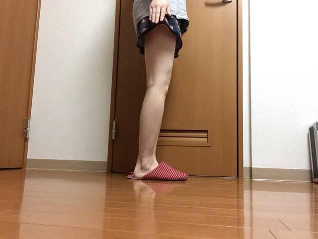 浮腫みきった私の脚です……