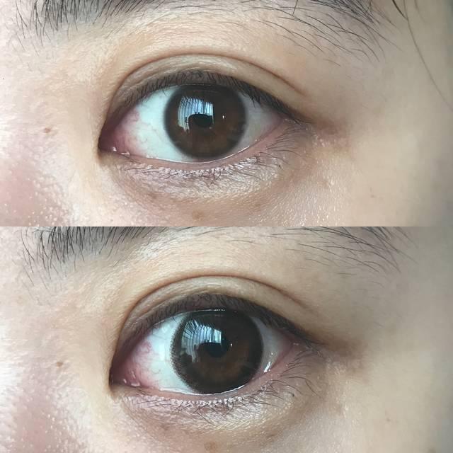 下が「eye closet」装着後の瞳