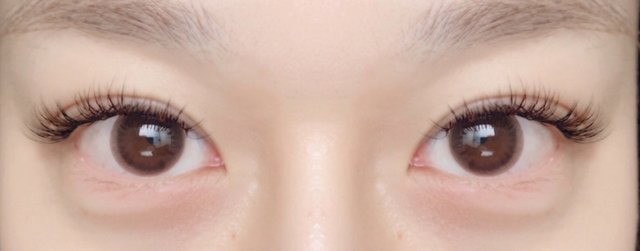 両目はこんな感じです♡